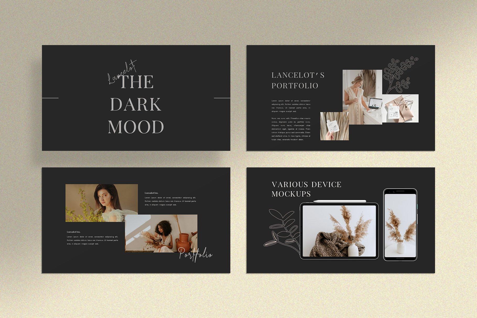 时尚简约女性服装摄影作品集PPT幻灯片模板 Lancelot Presentation Template插图(7)