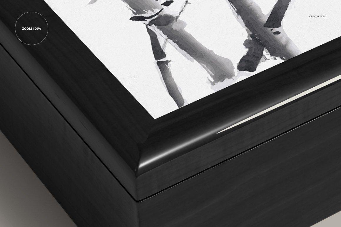 16个木质珠宝盒设计展示样机模板集 Tiled Wood Jewelry Box Mockup Set插图(8)