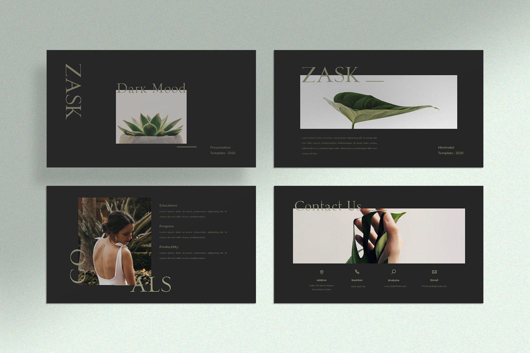 极简创意摄影作品集PPT幻灯片设计模板 Zask – Clean Presentation Template插图(7)