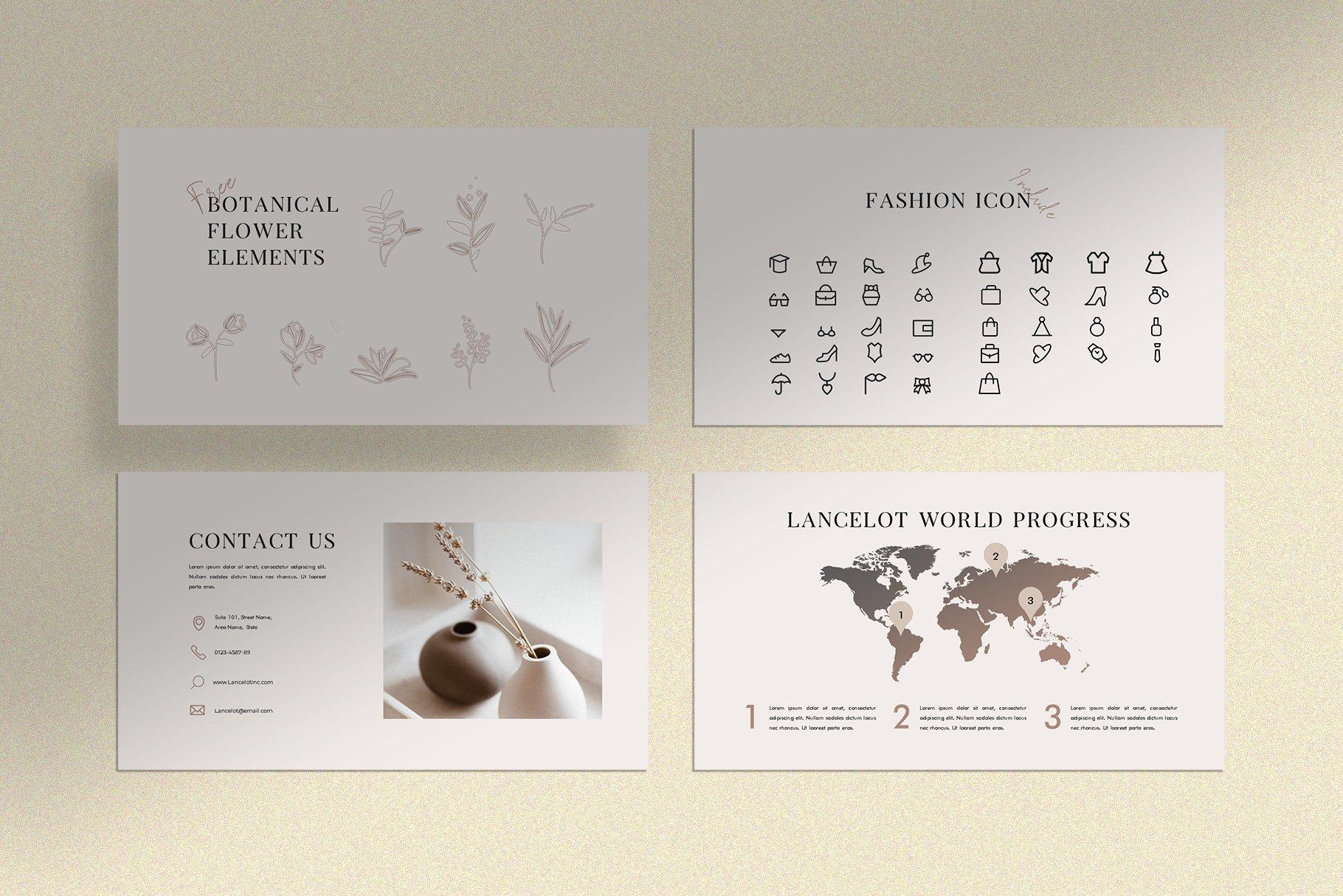 时尚简约女性服装摄影作品集PPT幻灯片模板 Lancelot Presentation Template插图(8)