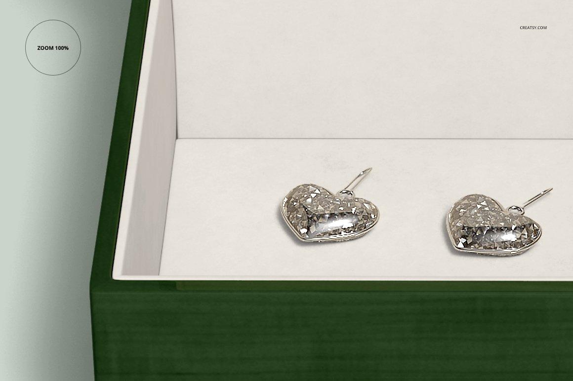 16个木质珠宝盒设计展示样机模板集 Tiled Wood Jewelry Box Mockup Set插图(10)