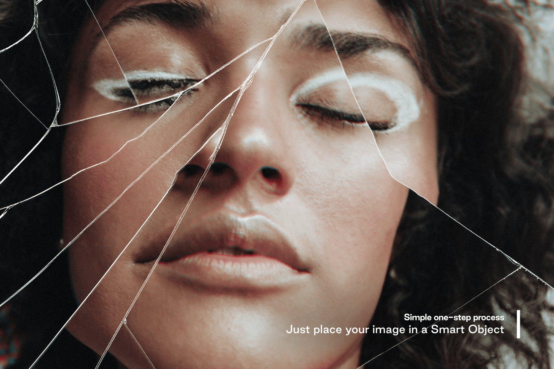 [淘宝购买]模糊破碎破裂变形玻璃叠加层背景PS设计素材 Broken – Cracked Glass Distortions插图5