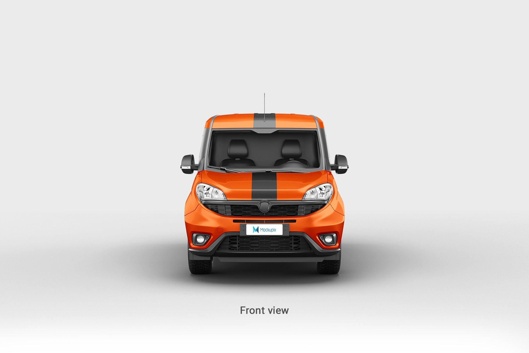 6款面包车小货车车身广告设计展示样机 Delivery Car Mockup 3插图(5)
