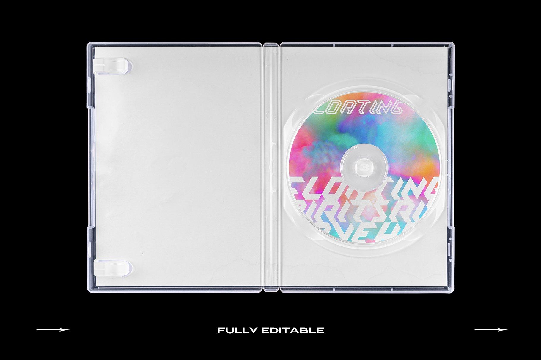 [淘宝购买] 60个DVD光盘包装盒塑料袋塑料膜贴纸样机PS设计素材 DVD Case Mockup Template Bundle Disc插图(6)