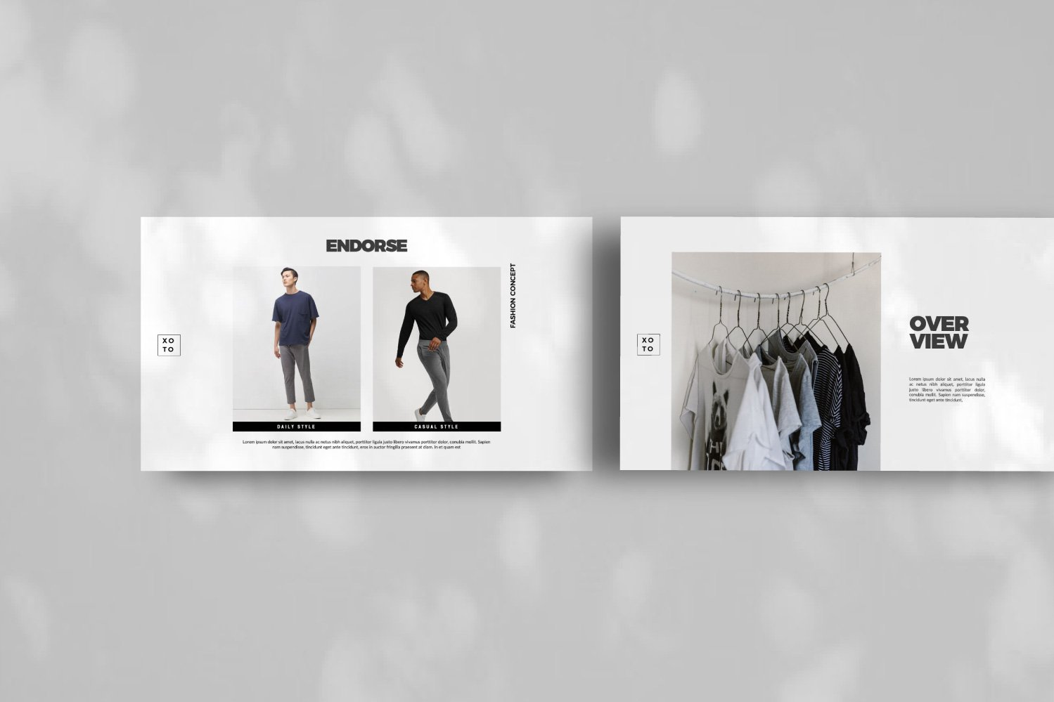 时尚简约服装设计作品集演示文稿模板 Xoto – Fashion Minimal Powerpoint插图(4)