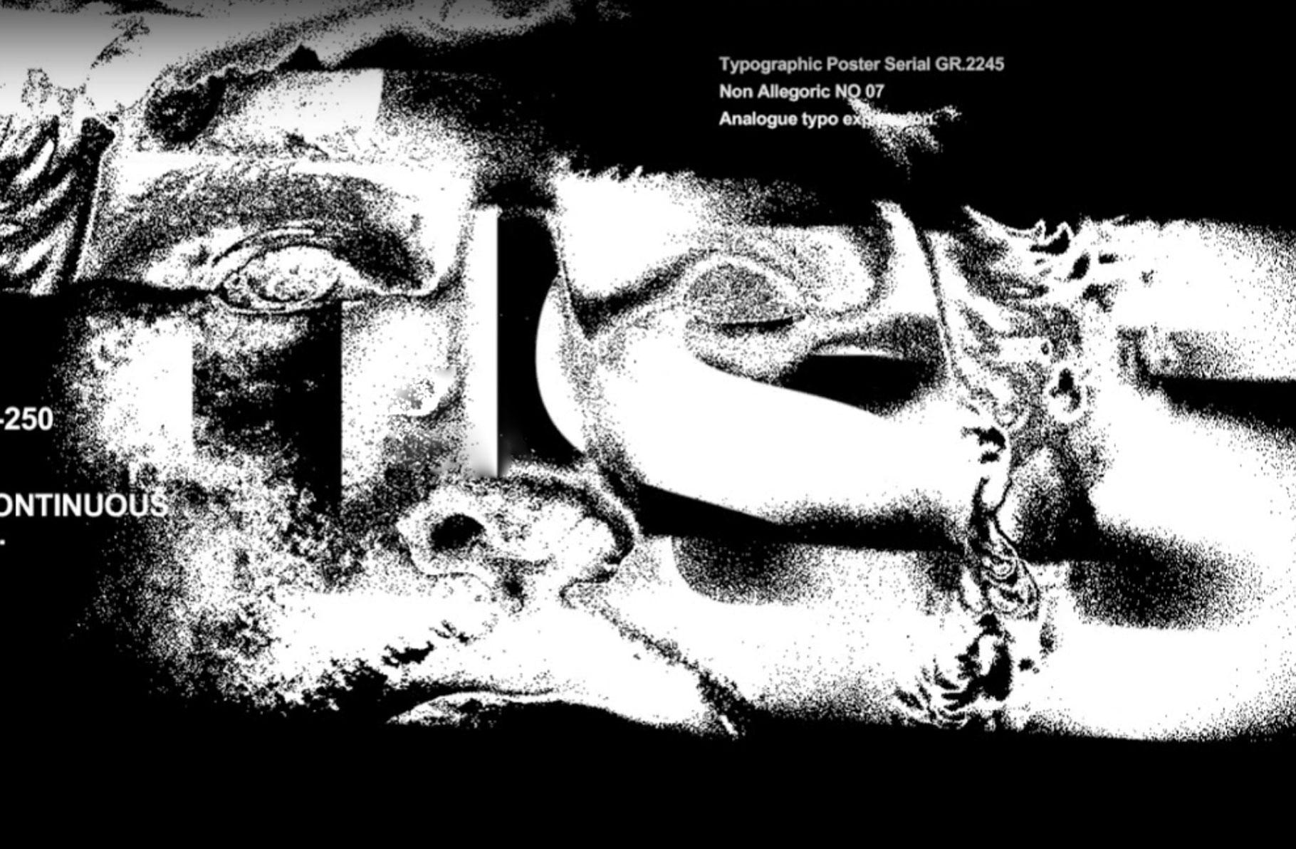 [ 淘宝购买] 潮流扭曲故障错位位移海报标题字体设计PSD动画模板 Typo Displace / Animated Templates插图(5)