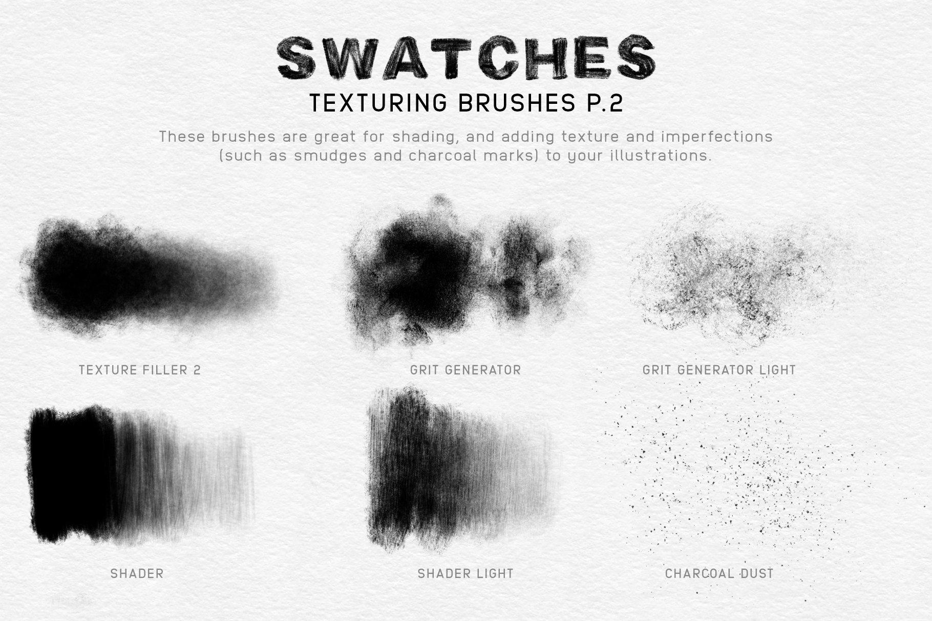 20款木炭铅笔素描绘画画笔Procreate笔刷 Charcoal Procreate Brushes插图(6)
