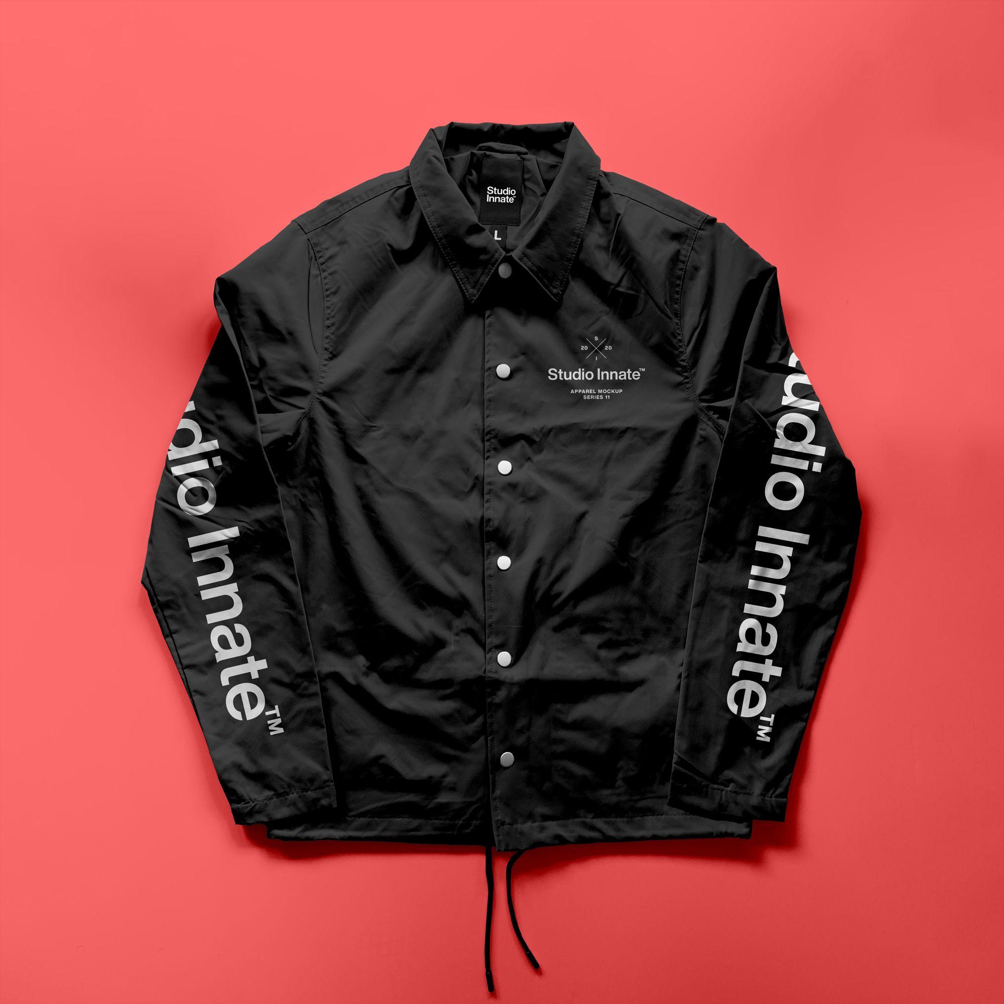 教练长袖夹克衫设计展示样机模板合集 Coach Jacket – Mockup Bundle插图(5)