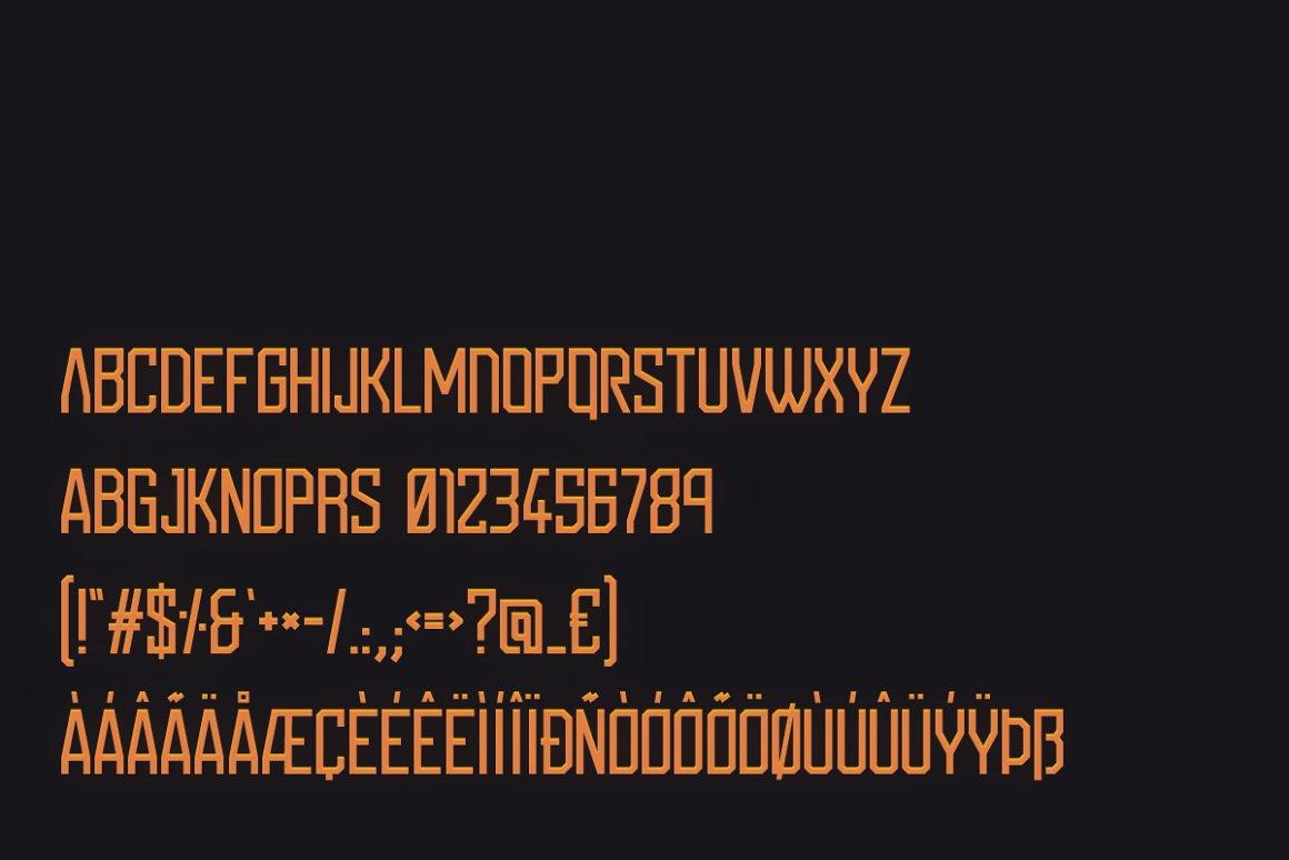 科幻电影标题设计无衬线英文字体下载 Ishimura Typeface Font插图(5)