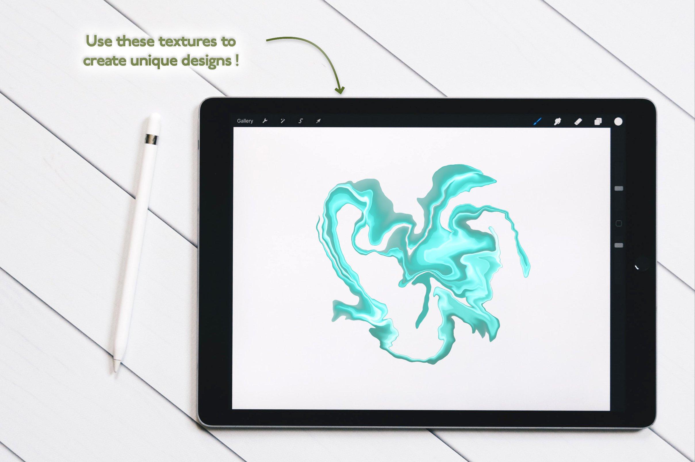 大理石纹理Procreate笔刷 Liquid Marble Texture Brush Bundle Noise插图(5)