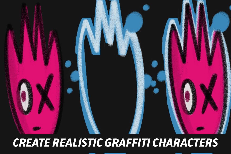 18款涂鸦绘画画笔Procreate笔刷 The Graffiti Box: Procreate Brushes插图(5)