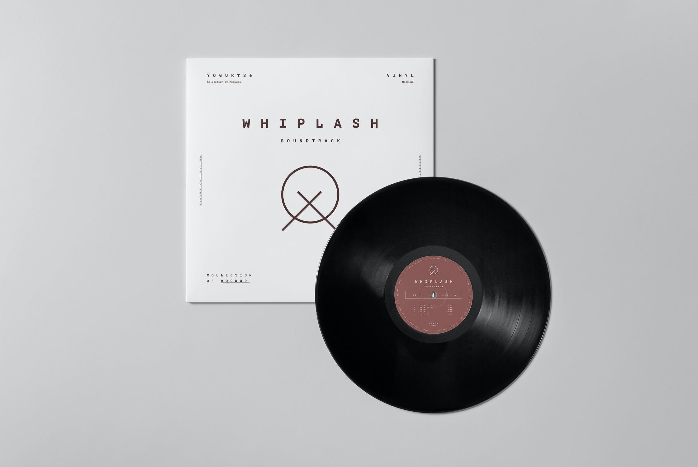 8款黑胶唱片包装纸袋设计展示样机模板 Vinyl Mockup插图(5)