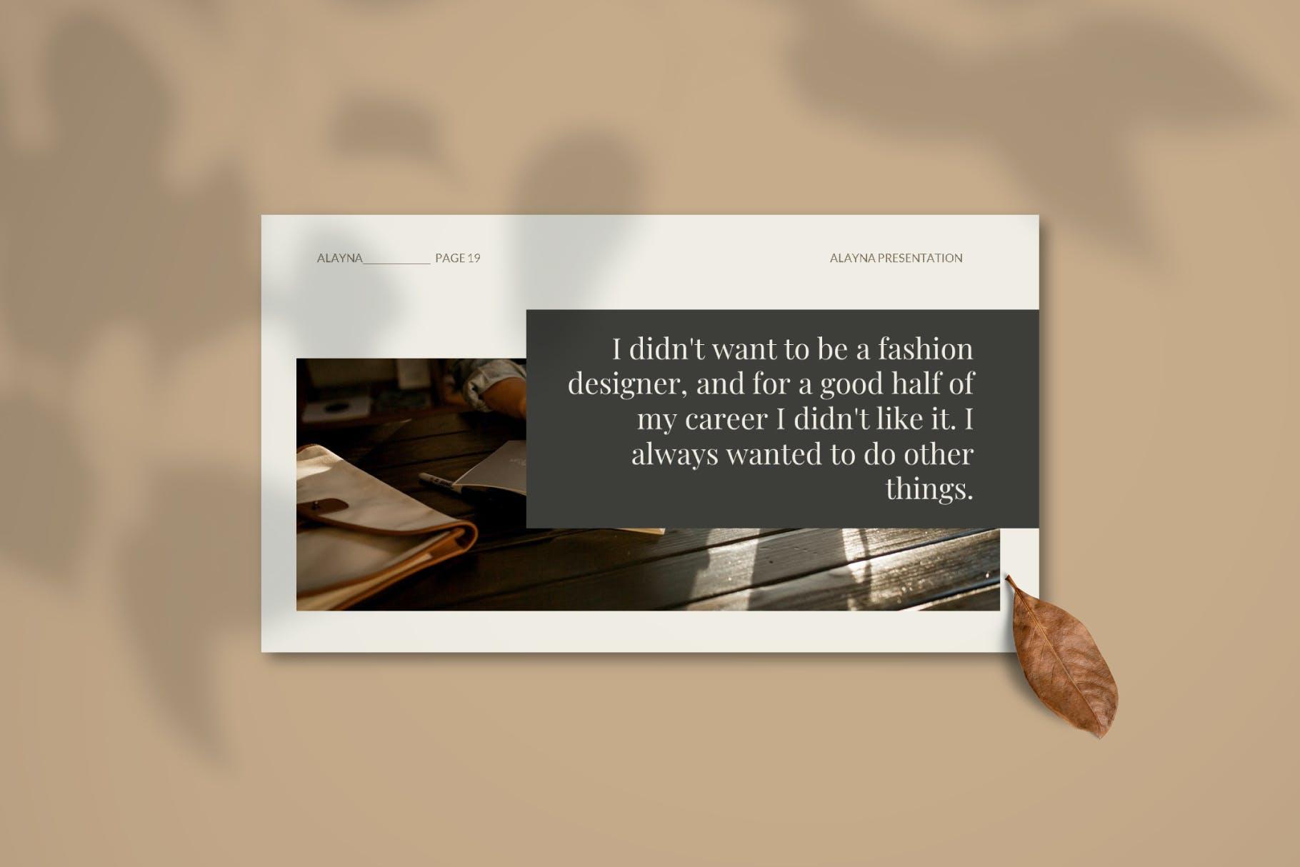 现代极简主义优雅轻奢品牌推广PPT演示文稿模板素材 Alayna – Powerpoint Template插图(5)
