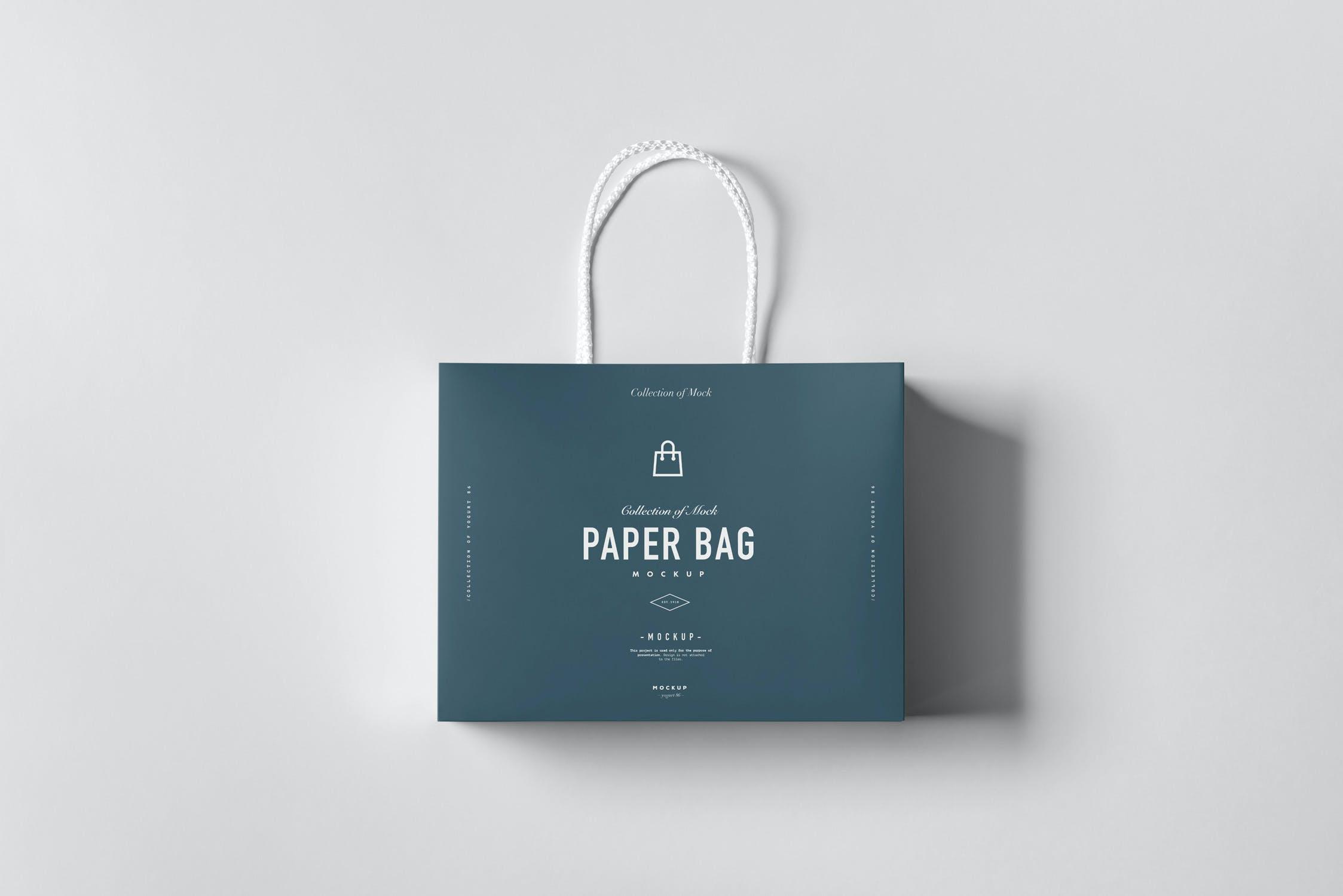 11款购物手提纸袋设计展示样机模板 Paper Bag Mockup 2插图(5)