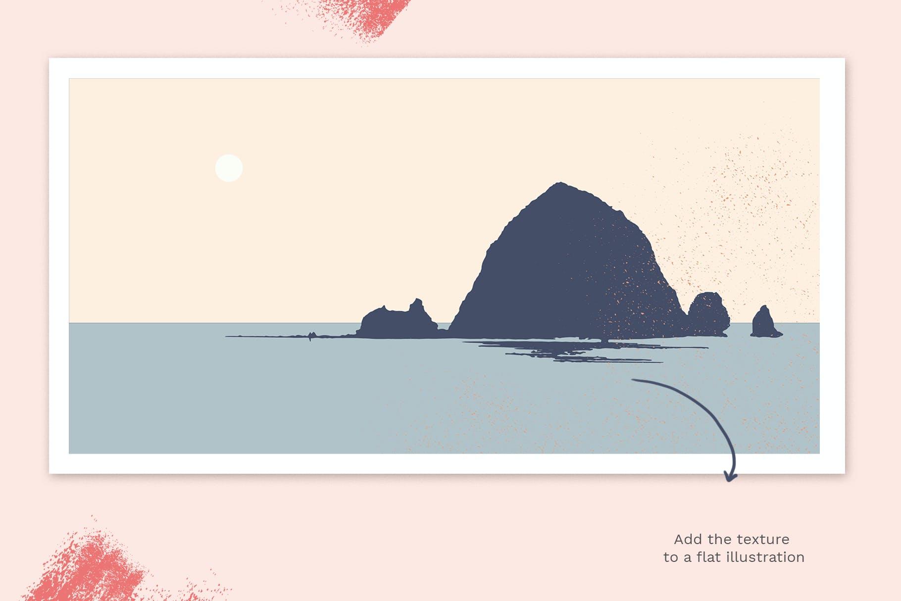 24款斑点颗粒AI矢量笔刷纹理素材 Vector Grain Brushes – Illustrator插图(5)