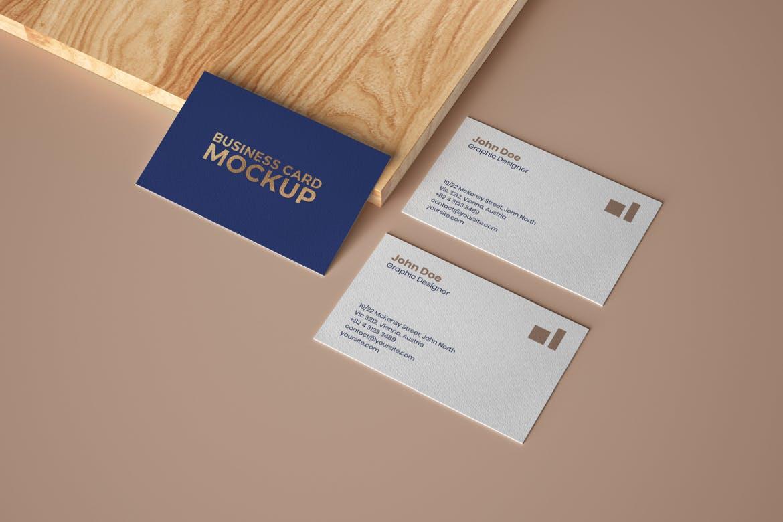 6款商务名片卡片设计展示样机 Elegant Business Card Mockup Set插图(5)