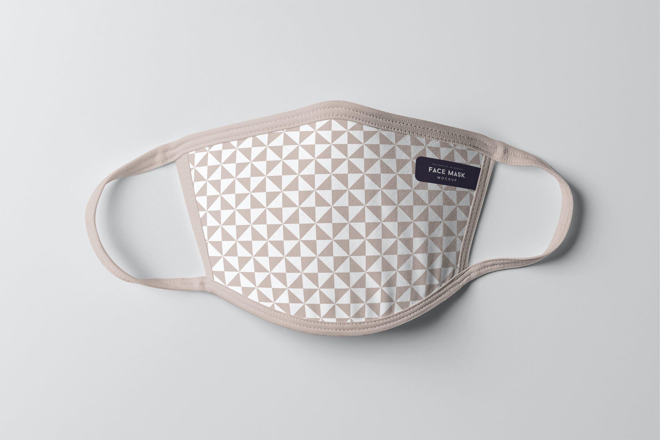 8款防护面罩口罩印花设计展示样机PSD模板 Face Mask Mockup插图(5)