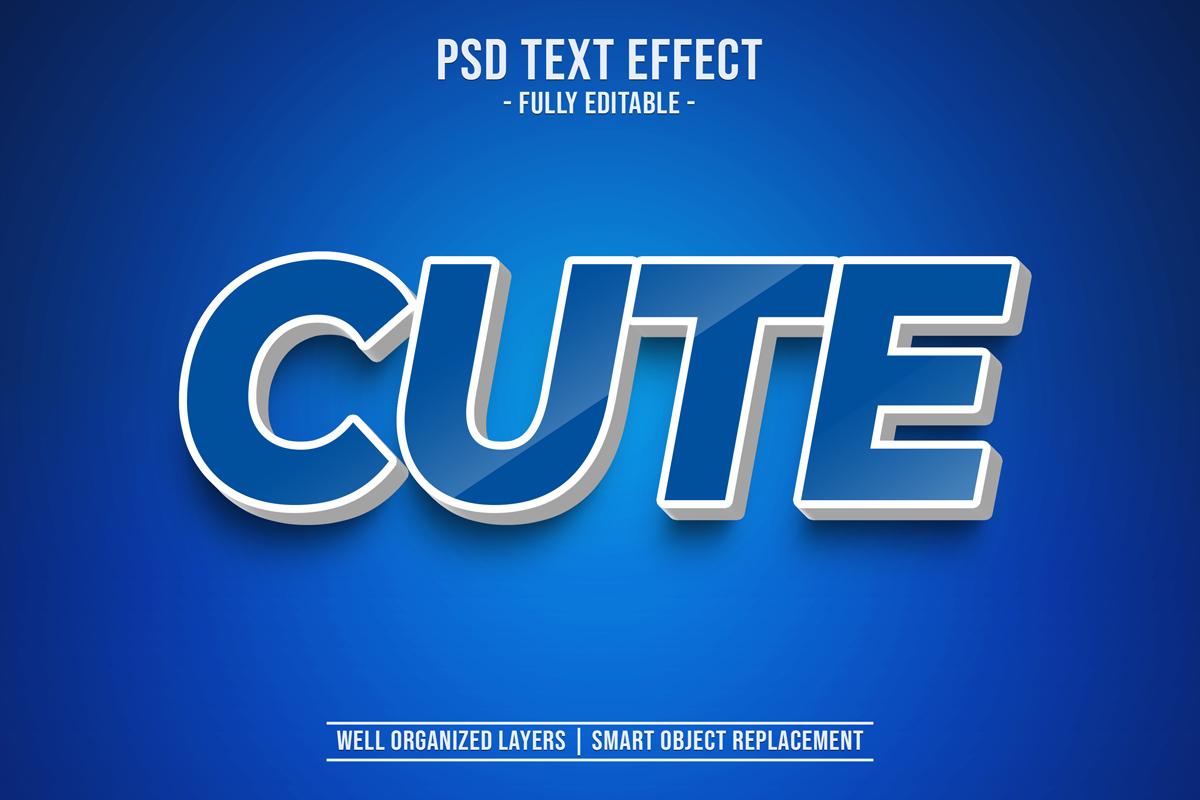 11款立体字效果徽标标题设计PS样式模板 Text Effect Mockup插图