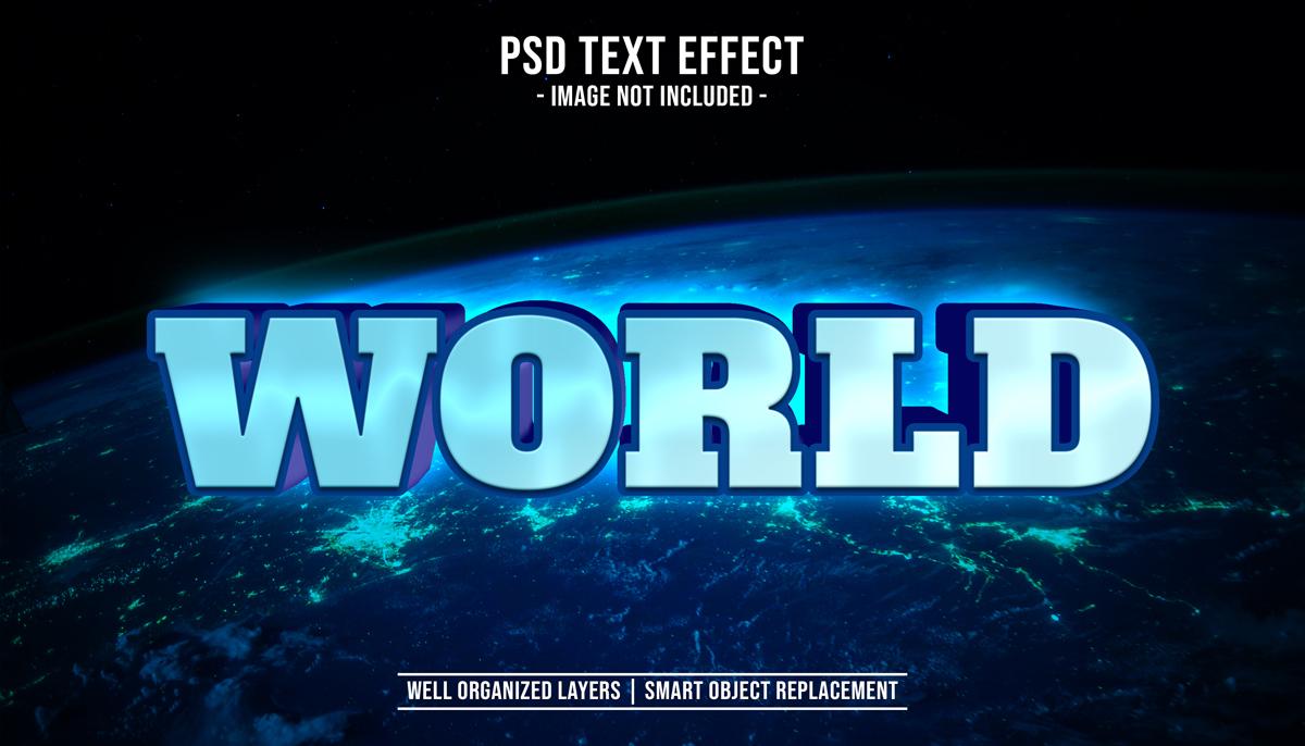 11款立体字效果徽标标题设计PS样式模板 Text Effect Mockup插图(1)