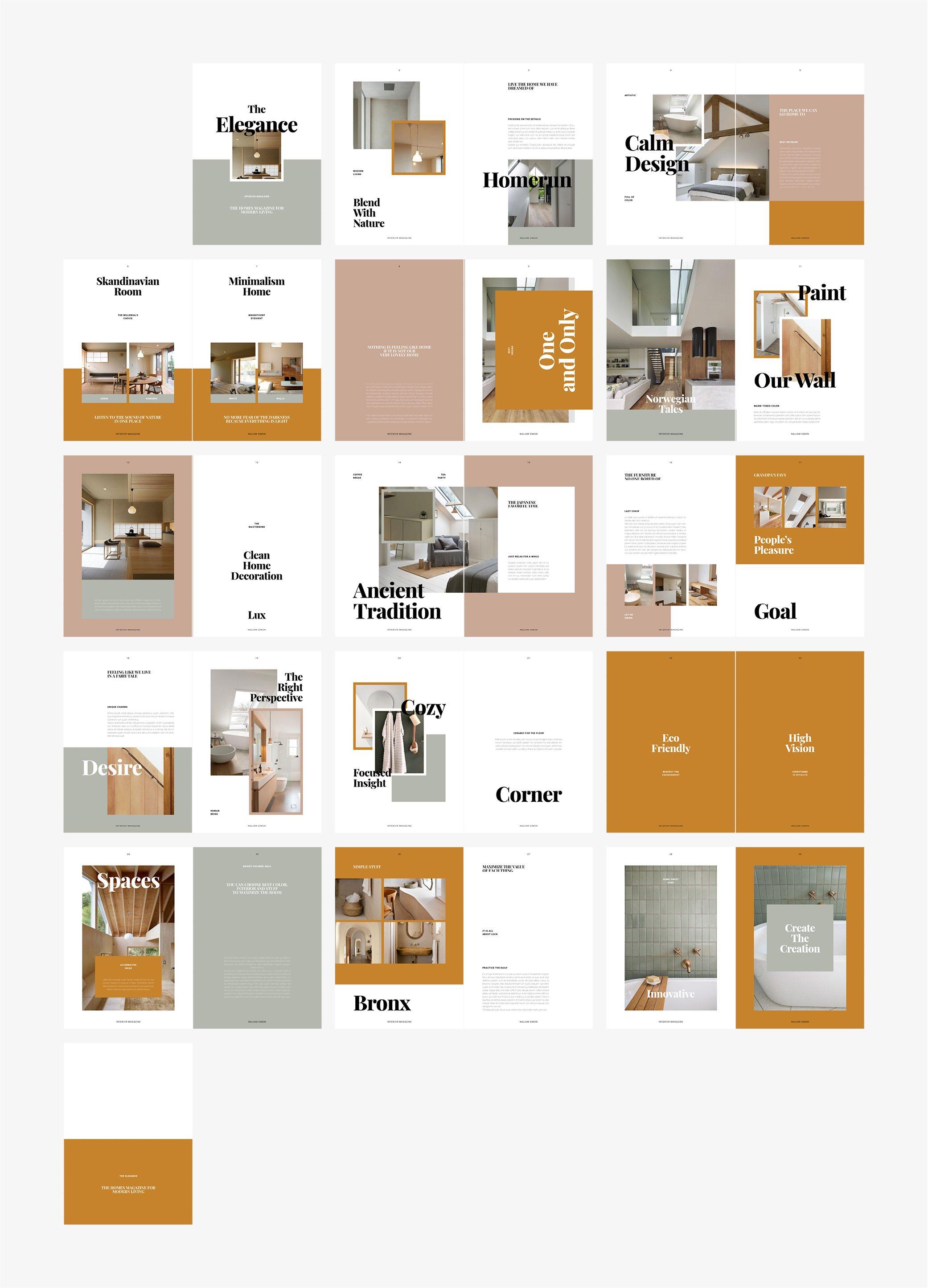 优雅室内设计作品集杂志画册INDD模板 ELEGANCE Interior Magazine插图(6)