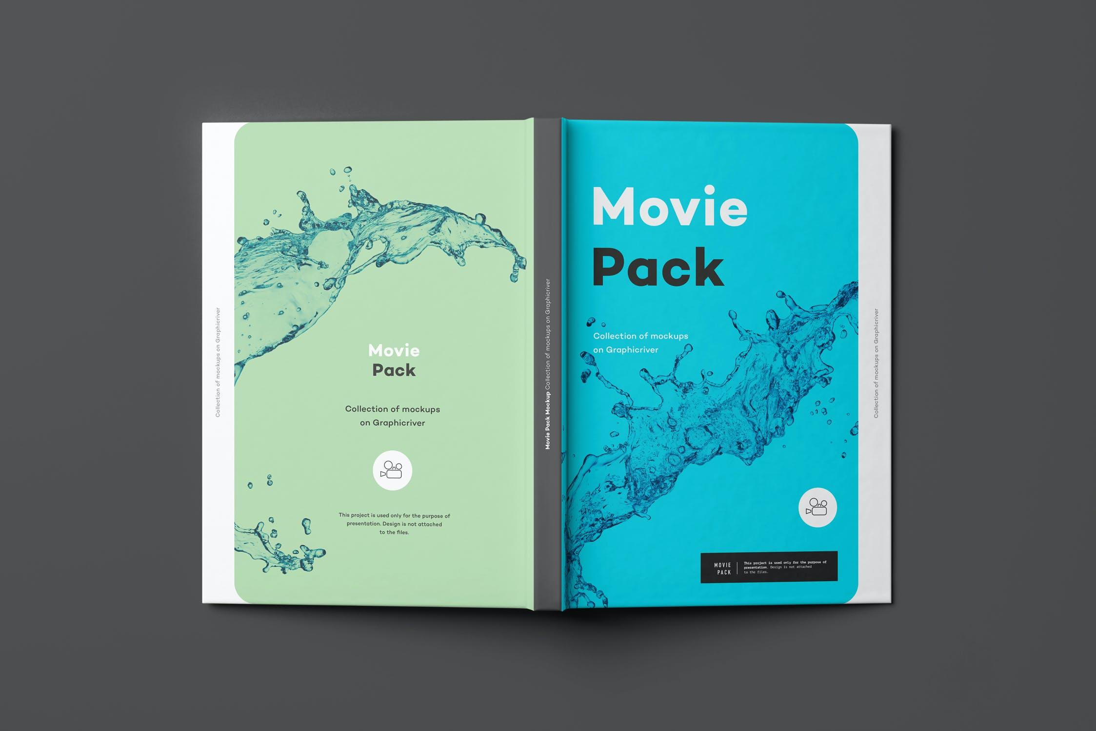 14款电影CD光盘包装纸盒设计展示样机 Movie Mockup 2插图(6)