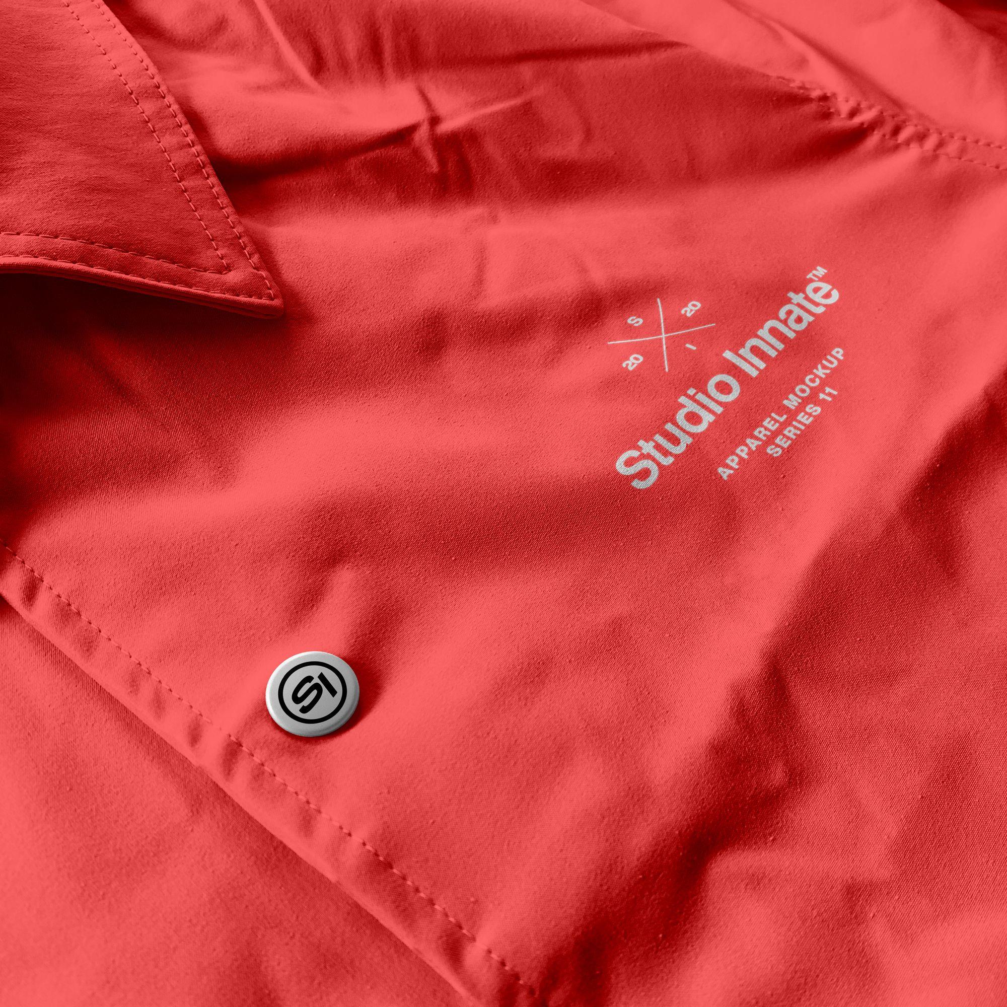 教练长袖夹克衫设计展示样机模板合集 Coach Jacket – Mockup Bundle插图(6)