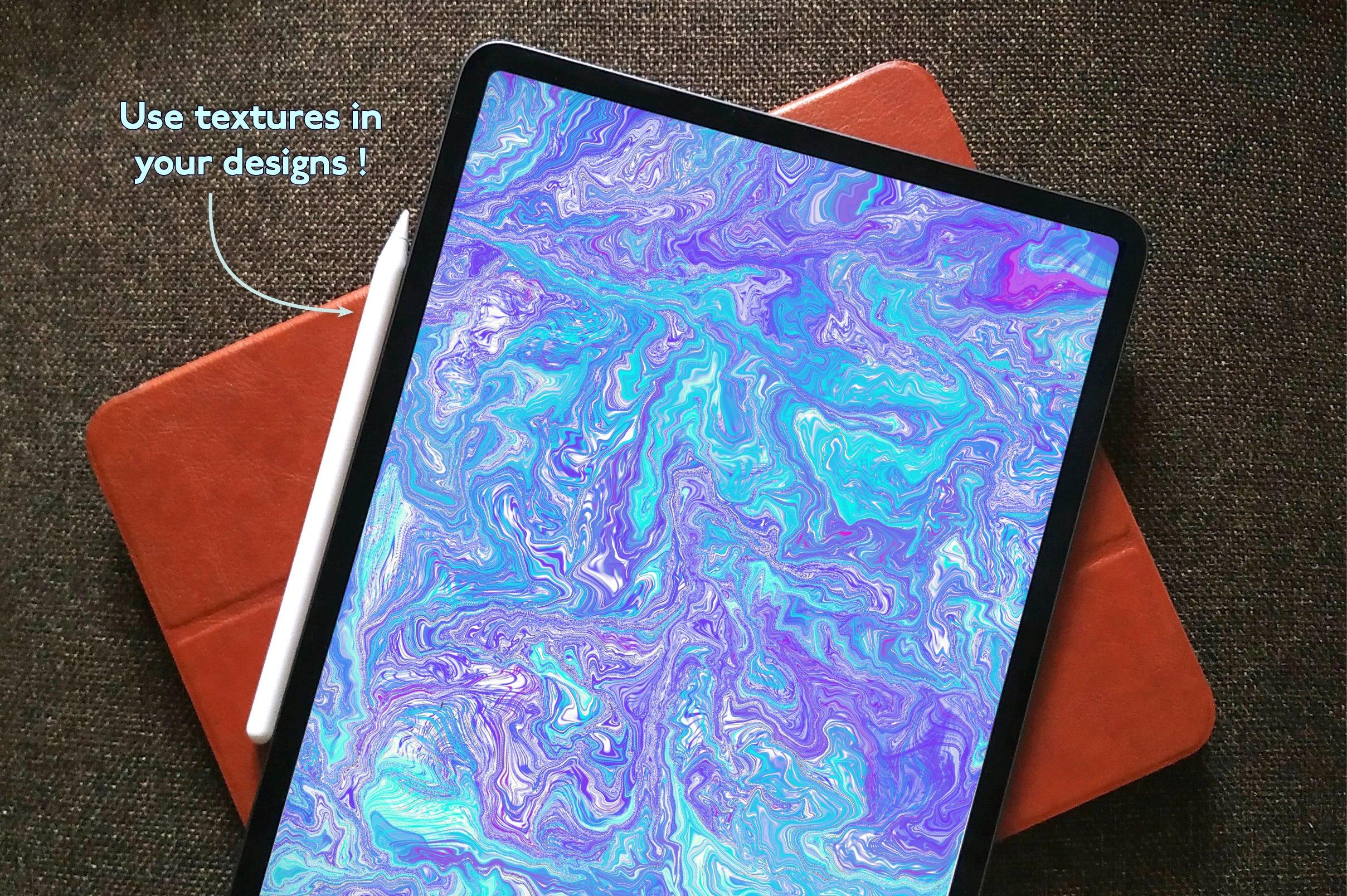 大理石纹理Procreate笔刷 Liquid Marble Texture Brush Bundle Noise插图(6)