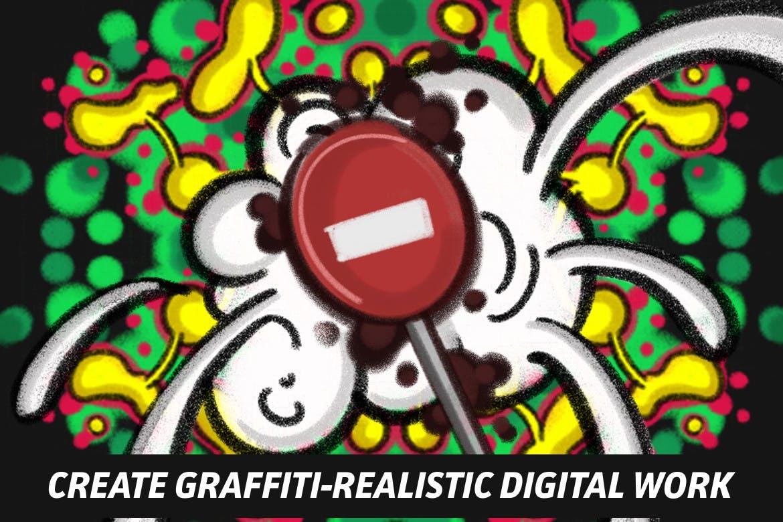 18款涂鸦绘画画笔Procreate笔刷 The Graffiti Box: Procreate Brushes插图(6)