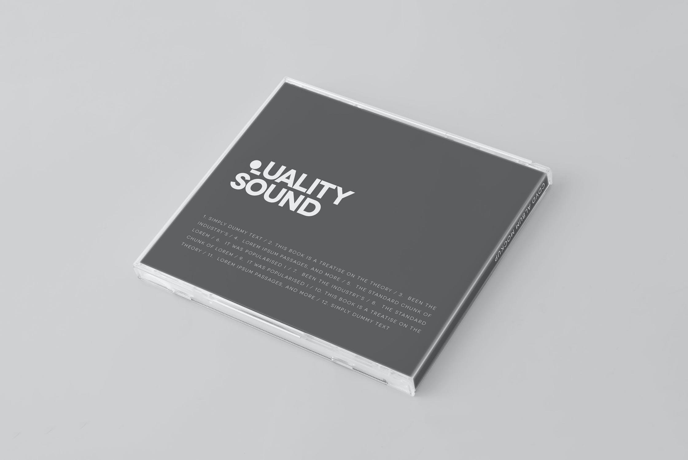 11款逼真CD/DVD包装盒设计展示样机模板 CD/DVD Album Mockup插图(6)