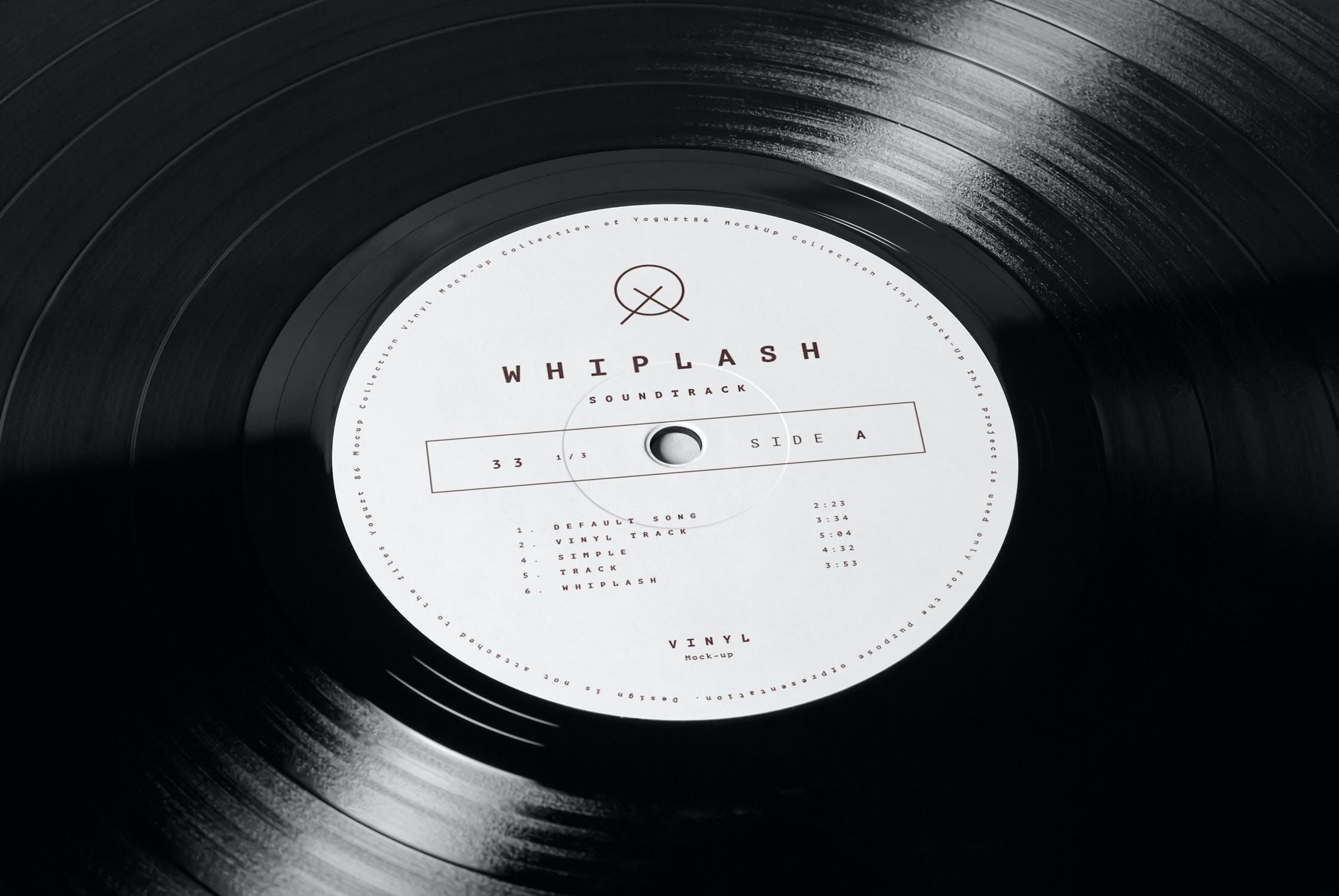 8款黑胶唱片包装纸袋设计展示样机模板 Vinyl Mockup插图(6)