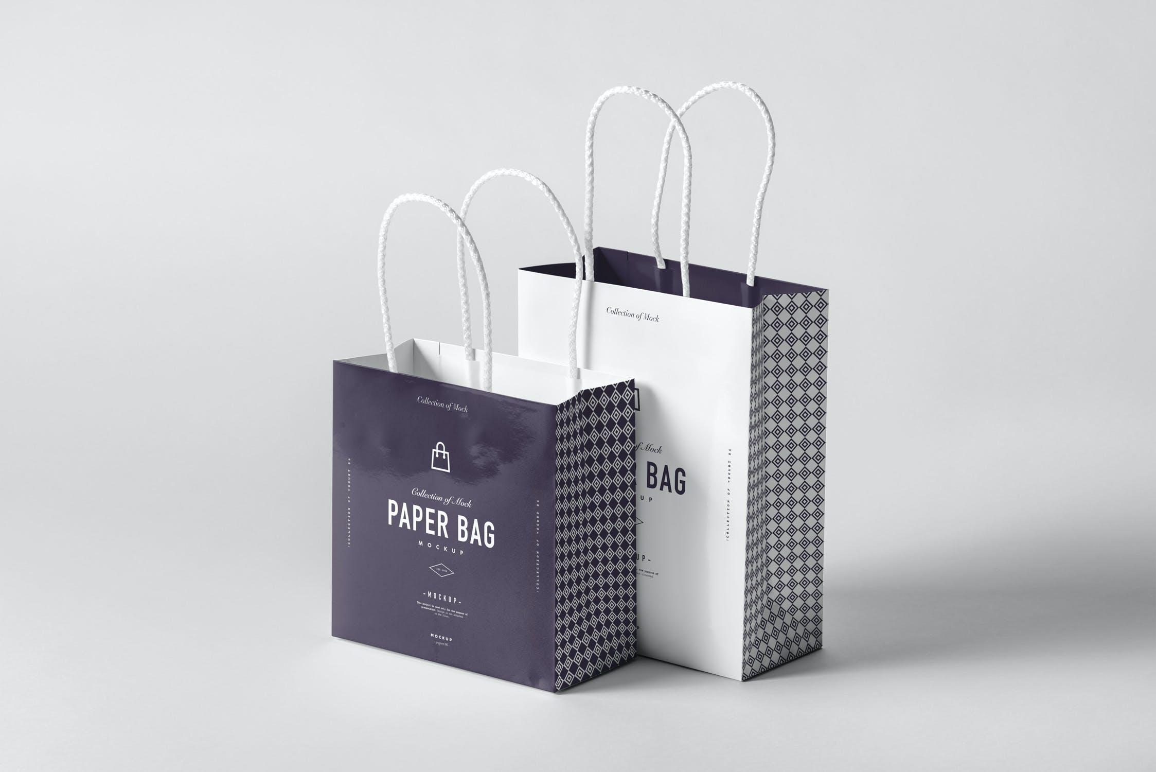 11款购物手提纸袋设计展示样机模板 Paper Bag Mockup 2插图(6)