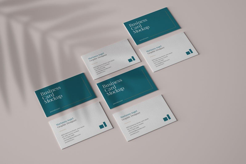 6款商务名片卡片设计展示样机 Elegant Business Card Mockup Set插图(6)