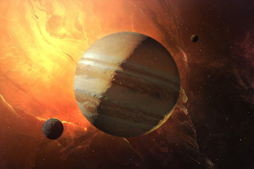 行星太空场景文字标题展示样机模板 Outer Space Planetary Template插图(6)