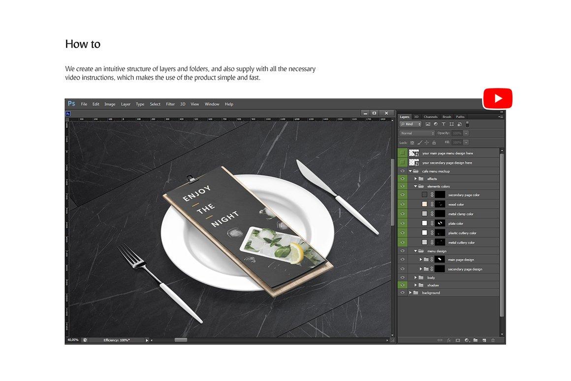 剪贴板菜单设计展示样机模板合集 Clipboard Menu Mockups Set插图(7)