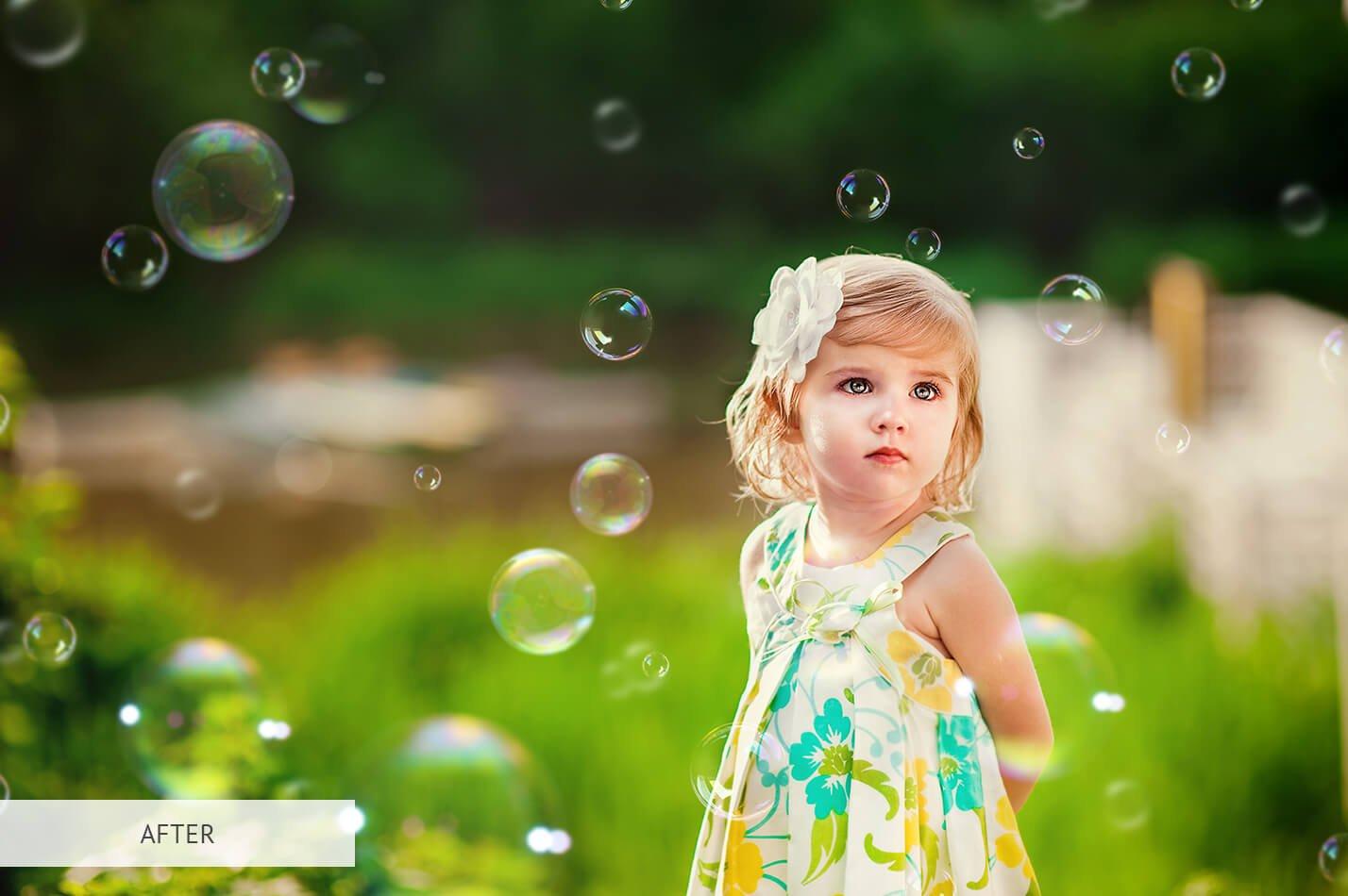 20个高清气泡PS图层叠加背景图片素材 Bubbles Overlays Photoshop插图(15)
