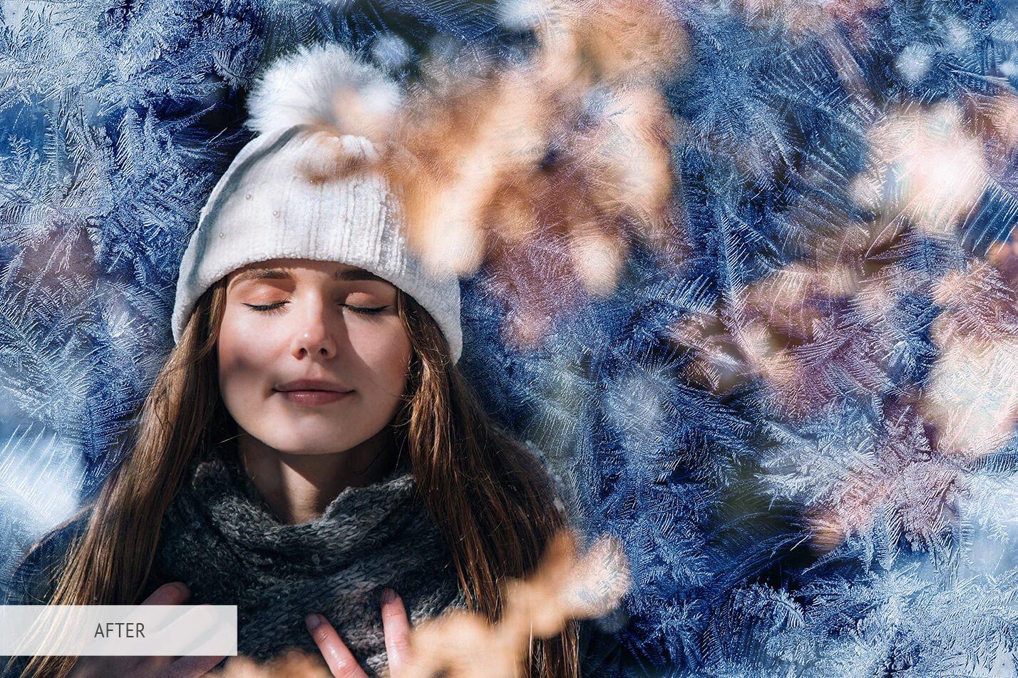 30款高清冬季冰雪PS叠加层背景图片素材 Ice Photoshop Overlays插图(16)