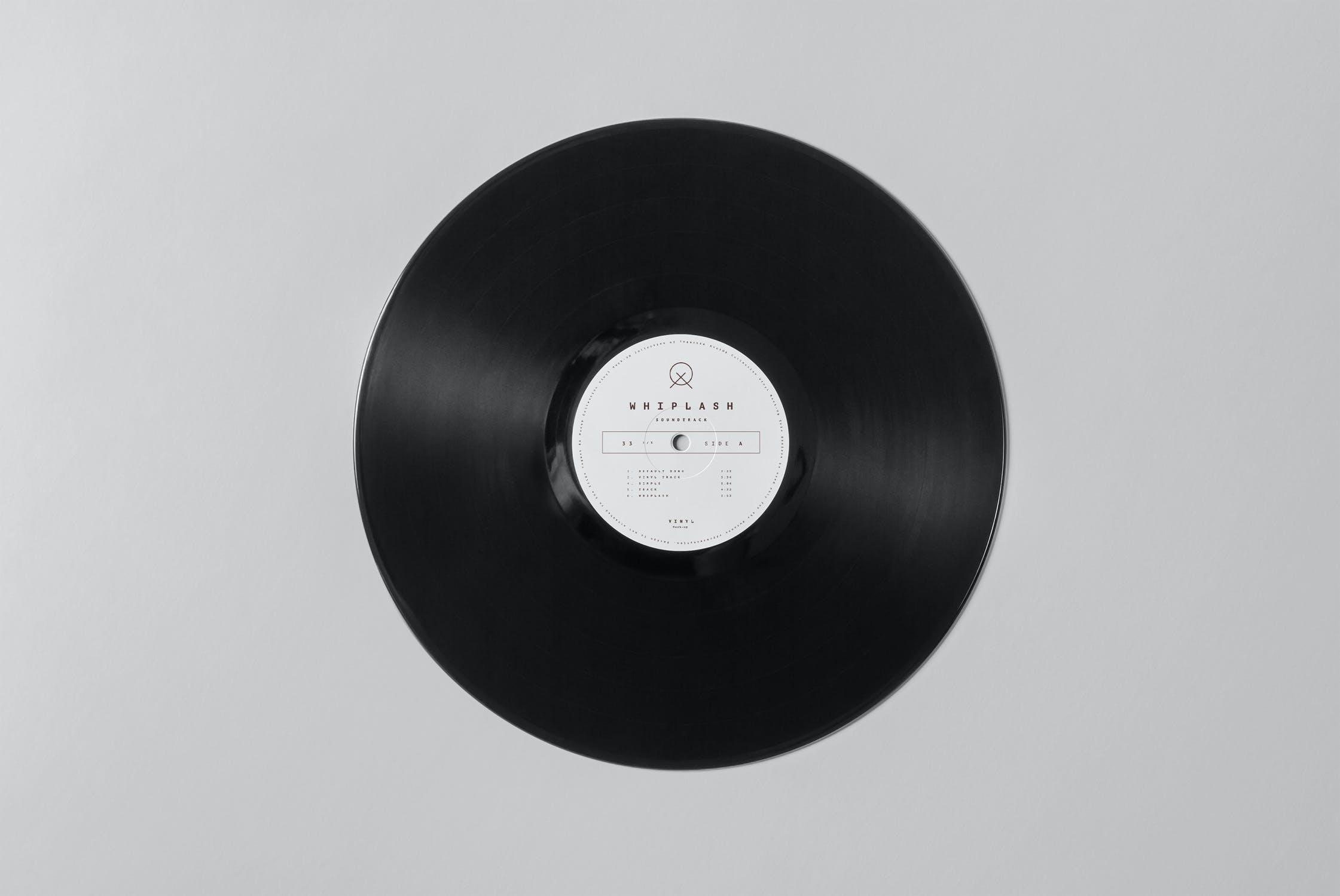 8款黑胶唱片包装纸袋设计展示样机模板 Vinyl Mockup插图(7)
