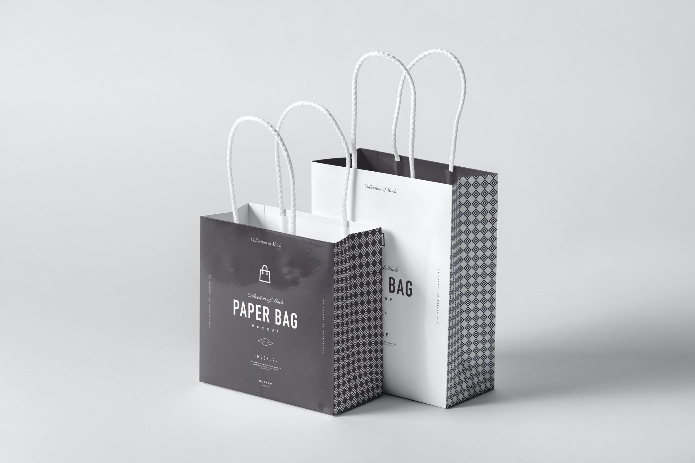 11款购物手提纸袋设计展示样机模板 Paper Bag Mockup 2插图(7)