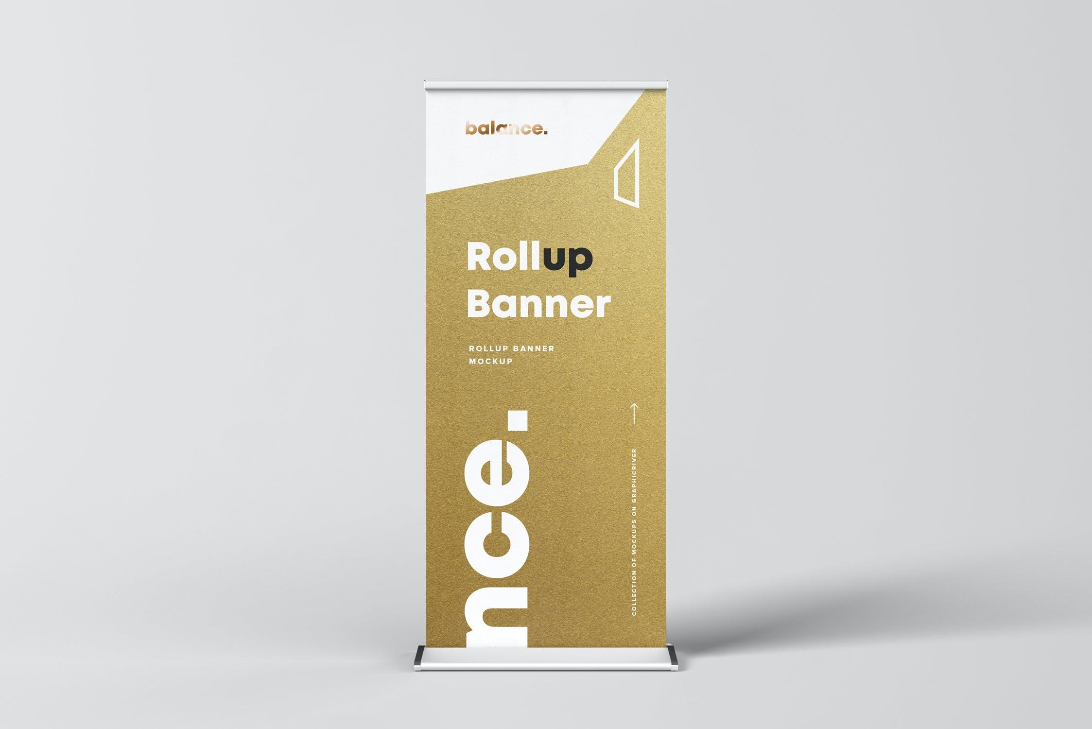 7款自立式易拉宝展架横幅海报设计展示样机模板 Roll Up Banner Mockup插图(7)
