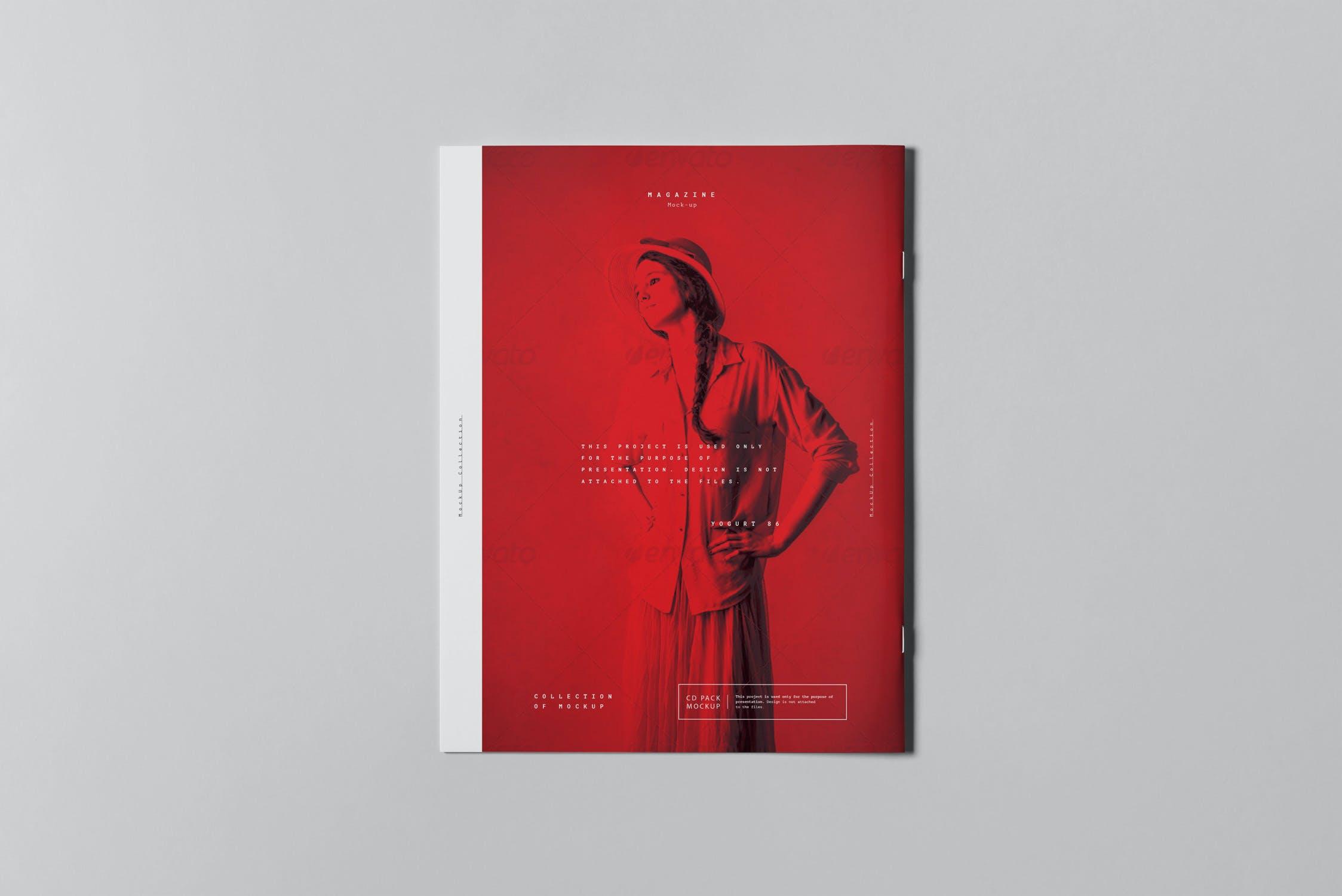 10款骑马钉宣传画册杂志设计展示样机模板 US Letter Brochure Mockup 3插图(7)