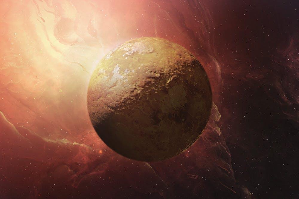 行星太空场景文字标题展示样机模板 Outer Space Planetary Template插图(7)
