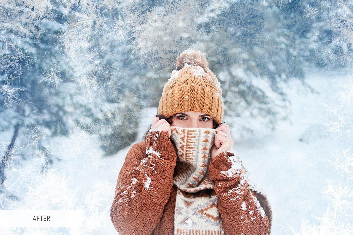 30款高清冬季冰雪PS叠加层背景图片素材 Ice Photoshop Overlays插图(18)
