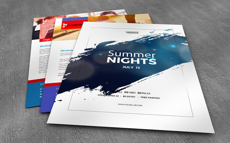 10款美式海报传单设计展示样机模板 U.S Letter Poster & Flyer Mockups插图(8)