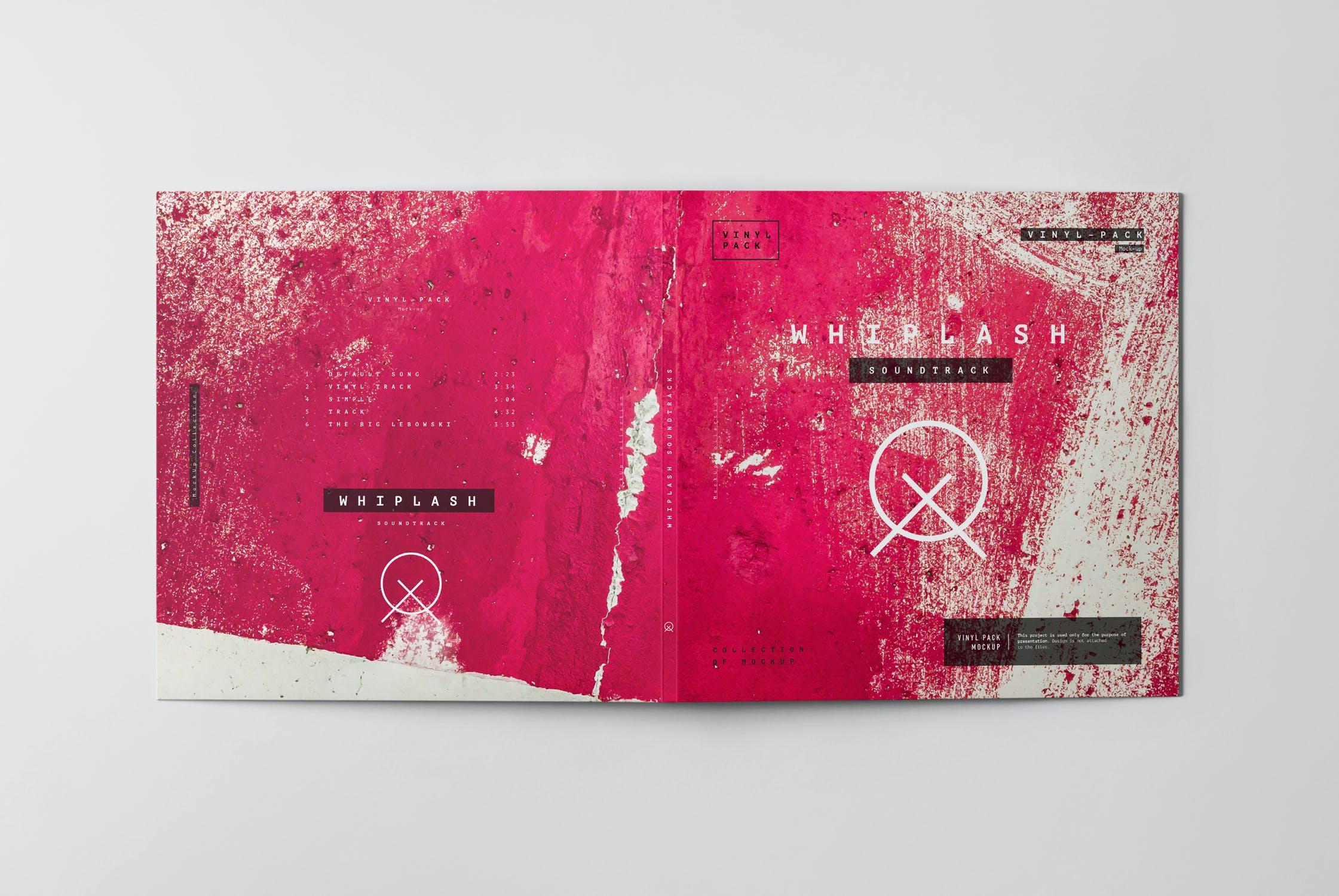 12款逼真黑胶片唱片纸袋设计展示样机 Vinyl Mockup 2插图(8)