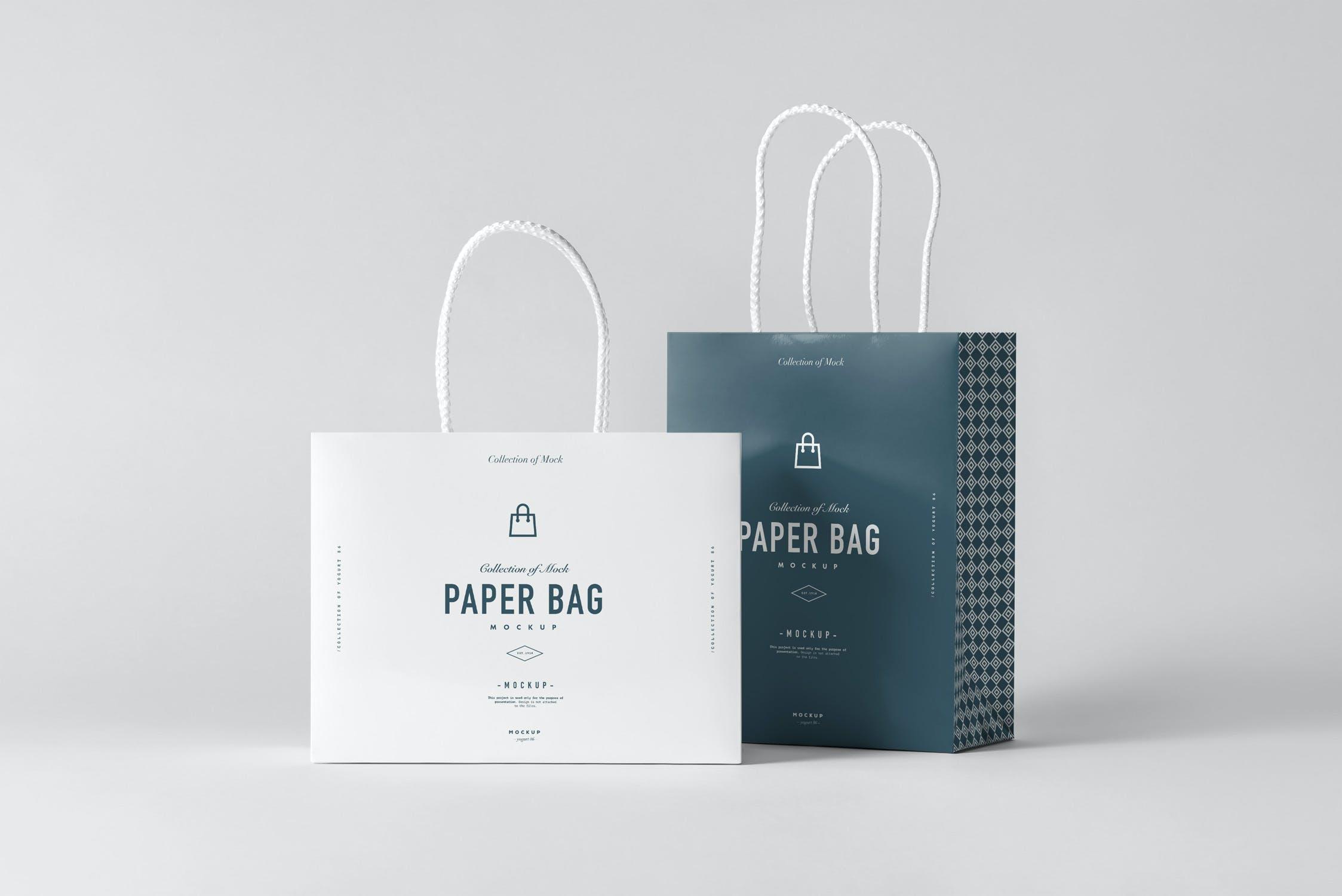 11款购物手提纸袋设计展示样机模板 Paper Bag Mockup 2插图(8)