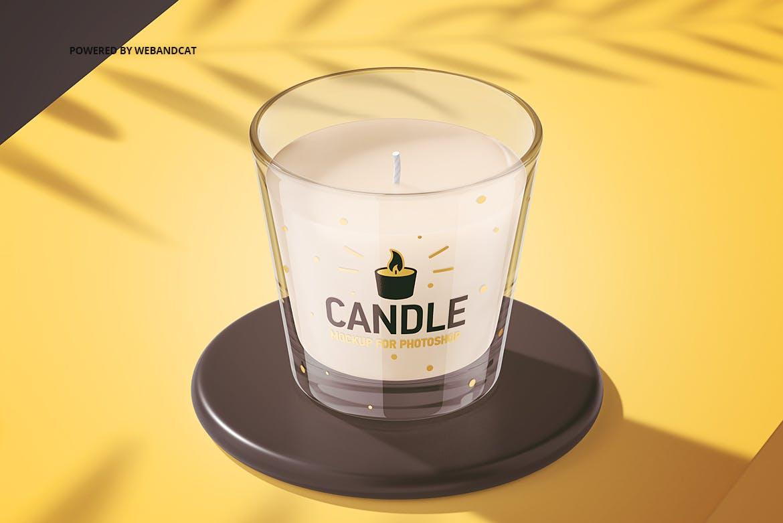 蜡烛香薰玻璃杯设计展示样机模板 Candle Mockup 2插图(8)