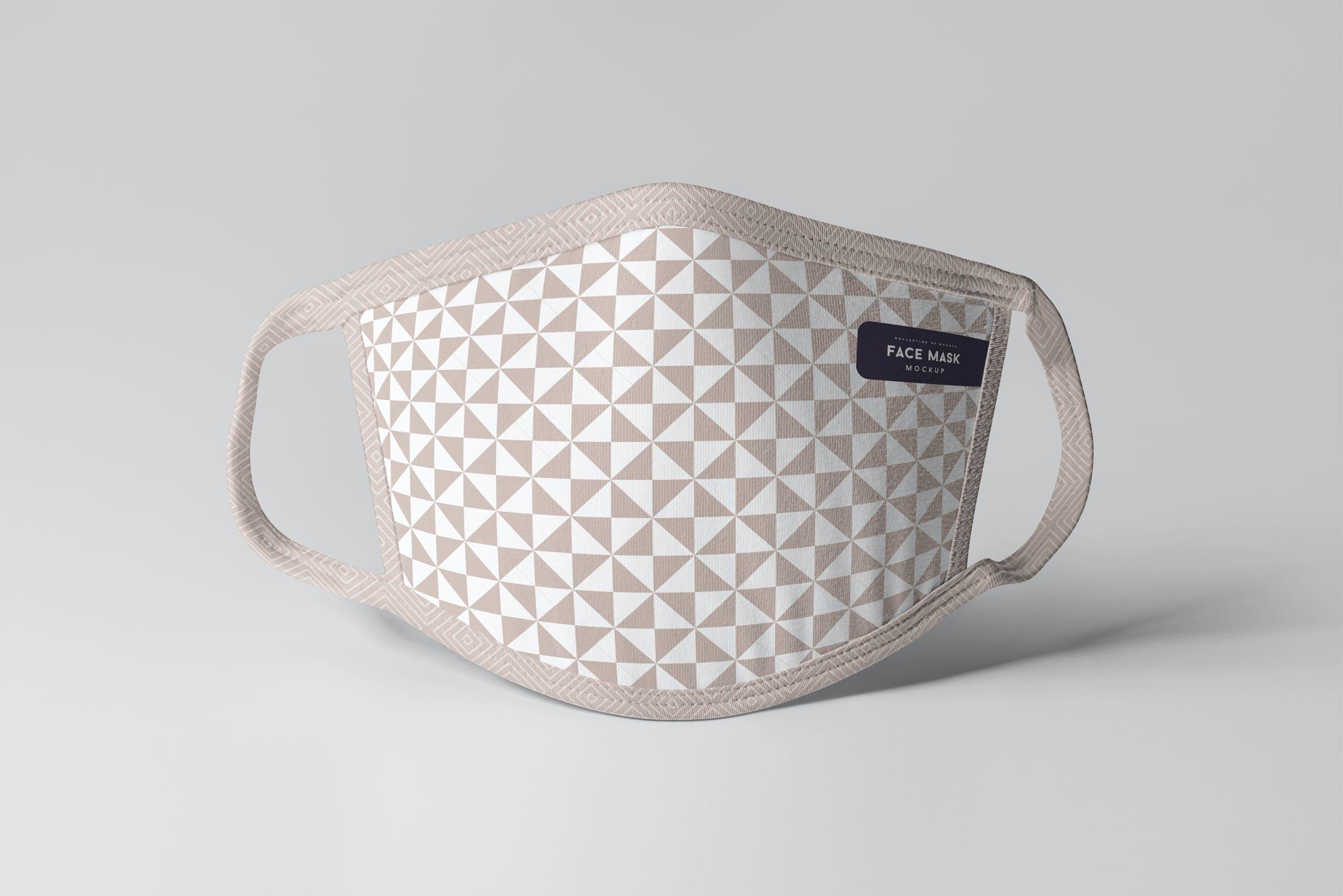 8款防护面罩口罩印花设计展示样机PSD模板 Face Mask Mockup插图(8)