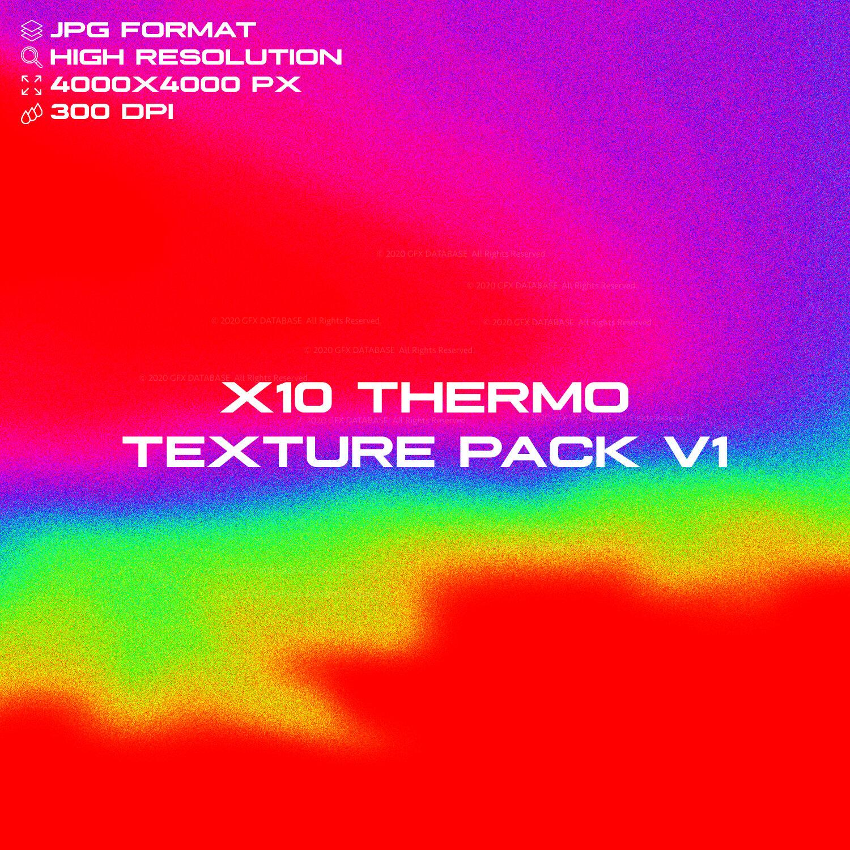 10款高清抽象热像图背景纹理图片素材 X10 Thermo Texture Pack V1插图