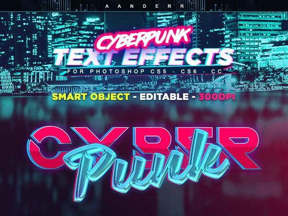 8款科幻未来赛博朋克特效立体字PS样式模板 Cyberpunk Text Effects插图