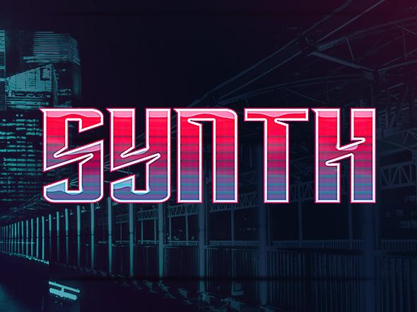 8款科幻未来赛博朋克特效立体字PS样式模板 Cyberpunk Text Effects插图(1)
